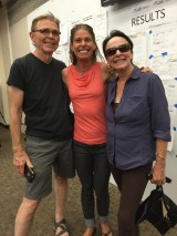 My in-laws, Jill and Terry, surprised me by coming to the race to cheer me on