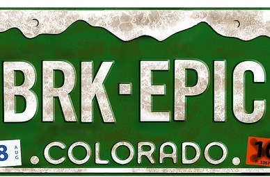 breck epic licence plate