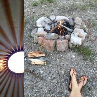 Camping at the yurt